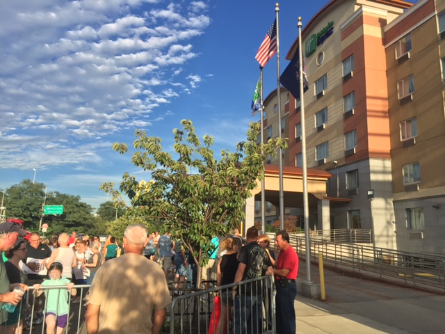 The protests in front of the Holiday Inn Express in Maspeth have gone on nightly since the August 11th town meeting at Martin Luther High School