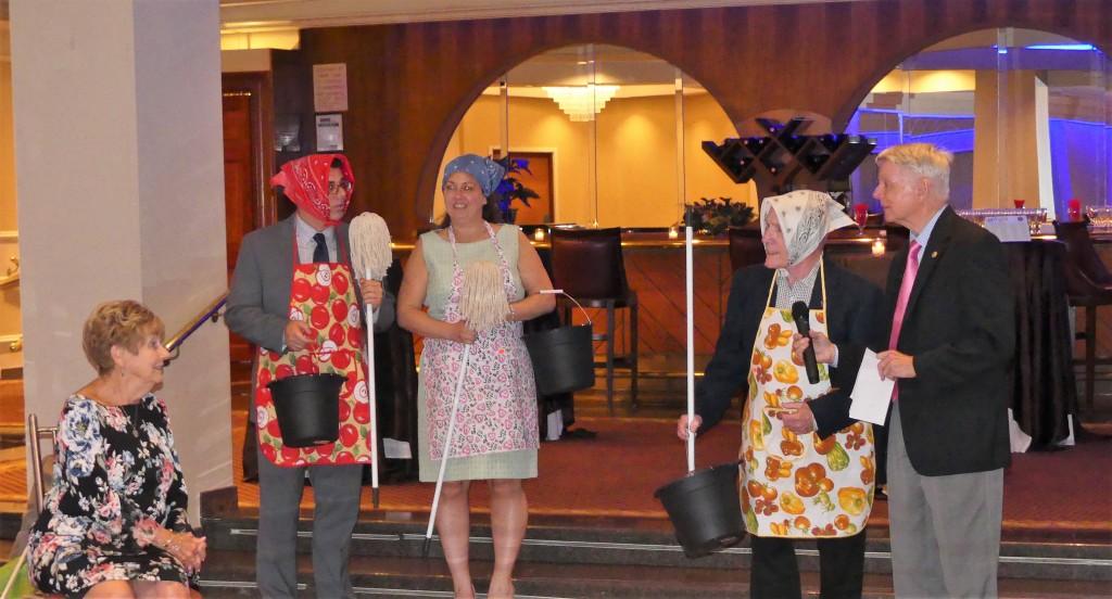 Barbara and Glenn Rudzewick, Michelle Masone, Jim O'Kane and Ken Rudzewick entertained Kiwanians at the Annual Maspeth Kiwanis roast Tuesday