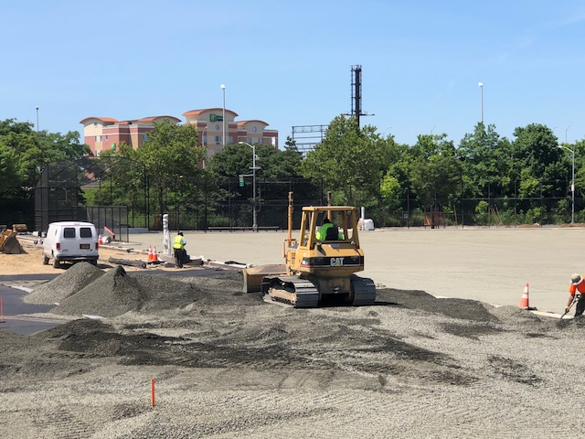 Principe Park ballfields construction is going fairly quickly. Principe Park 9formerly Maurice Park) Has lighted tennis courts, bocce courts, lighted basketball courts and hard surfaced softball field as well as handball courts.